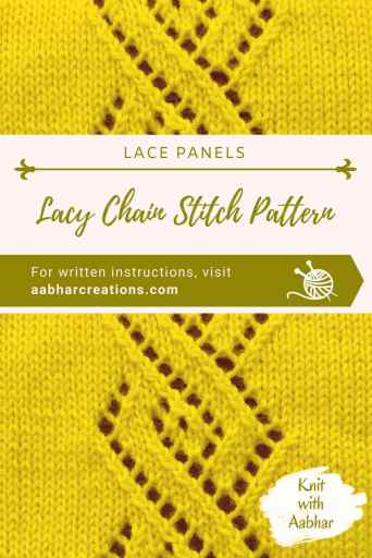Lacy Chain Stitch Pin aabharcreations