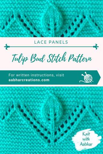 Tulip Bud Stitch Pattern pin aabharcreations