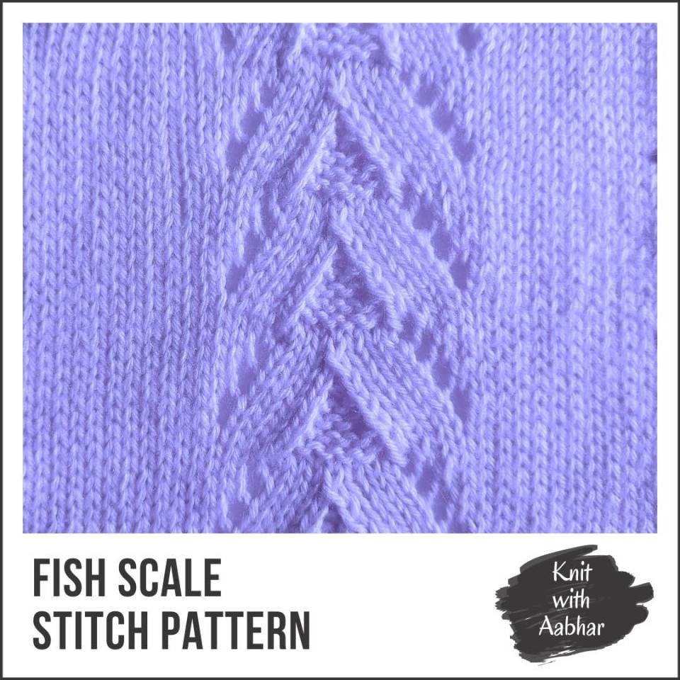 Fish Scale Stitch Pattern portfolio aabharcreations