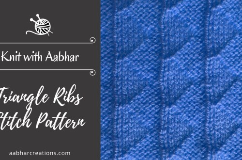 Triangle Ribs Stitch Pattern Featured aabharcreations