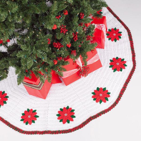 #7 Red Heart Crochet Tree Skirt