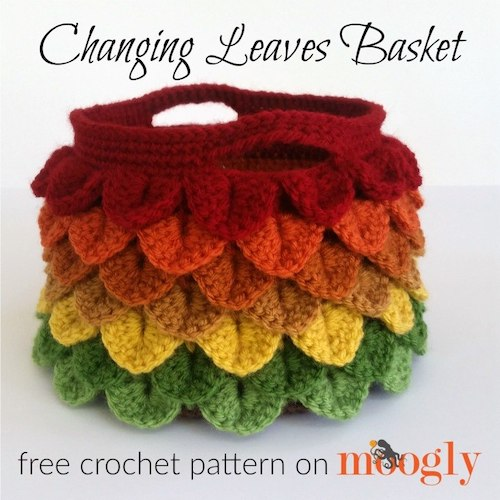 Pattern: Changing Leaves Basket from Moogly Blog fall crochet patterns