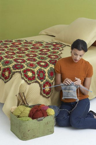 Pattern: Fall Hexagon Afghan Pattern from Lion Brand