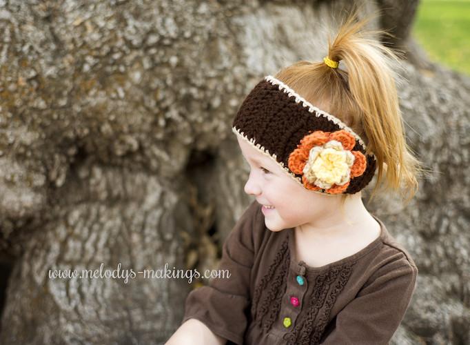 Pattern: Falling Flowers Ear Warmer – Free Pattern! from Melody's Makings