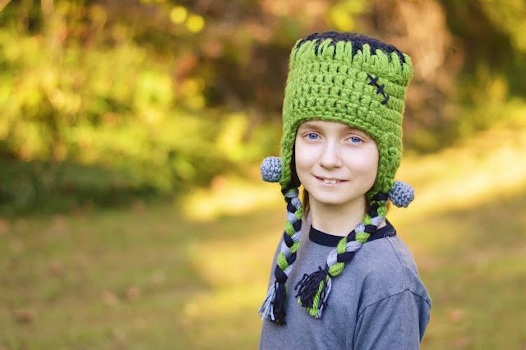Pattern: Frankenstein's Monster Hat Free Crochet Pattern from With Alex