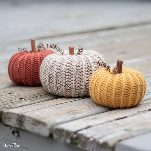 Pattern: Little Rustic Pumpkin from Yarn and Chai