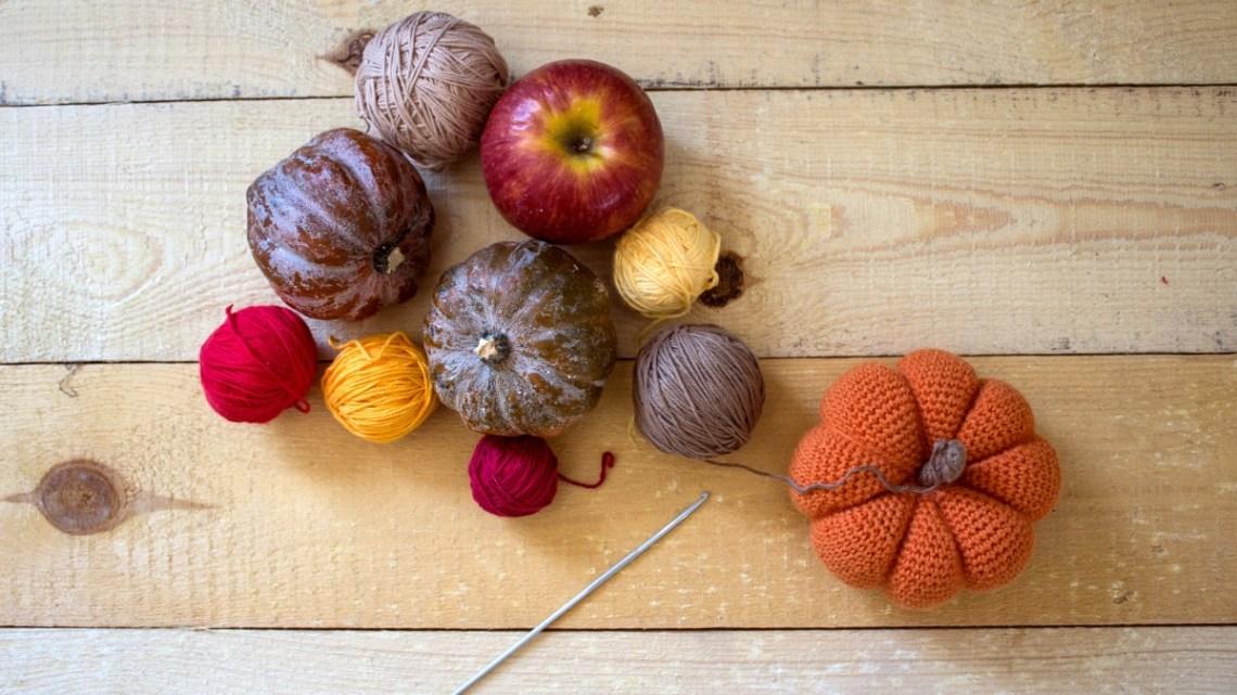 Free Yarn Pumpkin Patterns aabharcreations