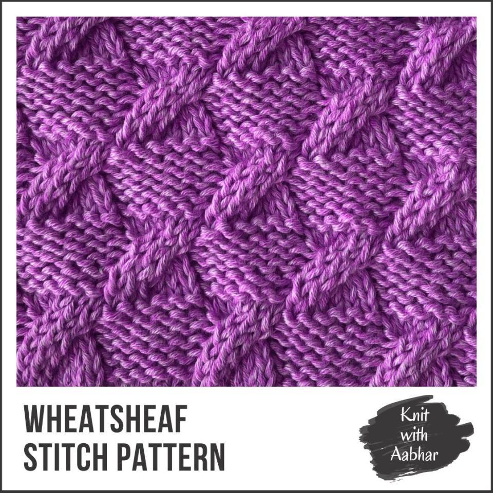 Wheatsheaf Stitch Pattern aabharcreations learn to knit