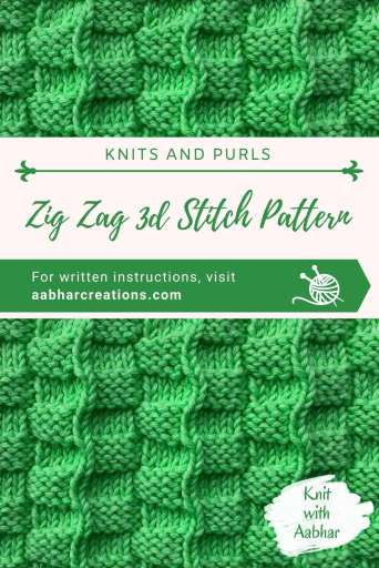 zig zag 3d stitch pattern pin image aabharcreations