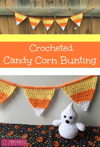 Pattern: Crocheted Candy Corn Bunting from Craftholics Anonymous