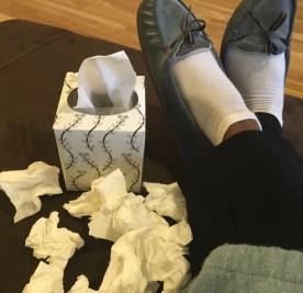Just tissues, no confetti here.