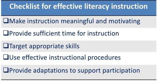 checklist for effective instruction