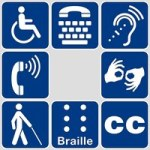 Disability and communication icons