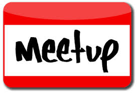 "Name tag with the words ""meet up"" on it"