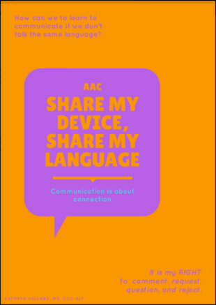 Poster saying Share my device, share my language