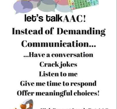 A JPEG image of the don;t demand communication poster.