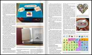 Page from Smolen and Helland article on teaching core vocabulary throughout the school day.