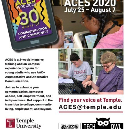 FLyer with information about ACES 2020. Learn more at TechOWLpa.org.