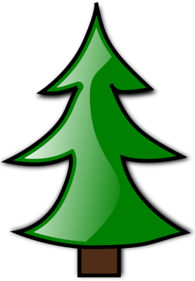 clipart of a conifer