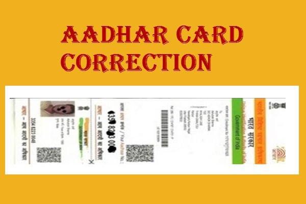 Aadhaar Card Correction Status