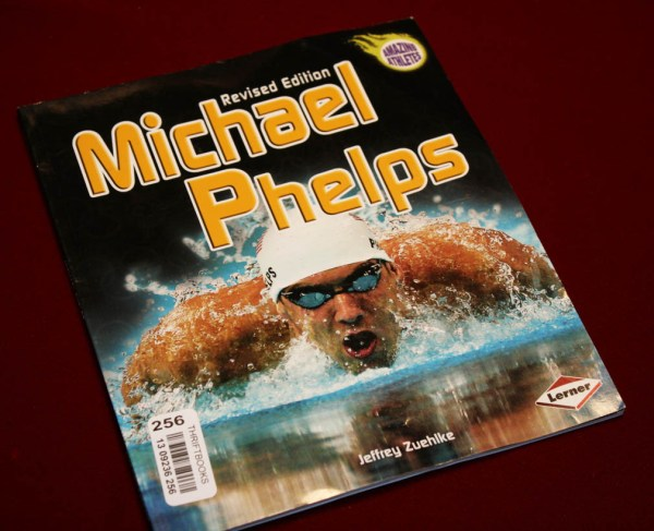 Signed Michael Phelps Autograph Swim Cap In Case Psa Dna
