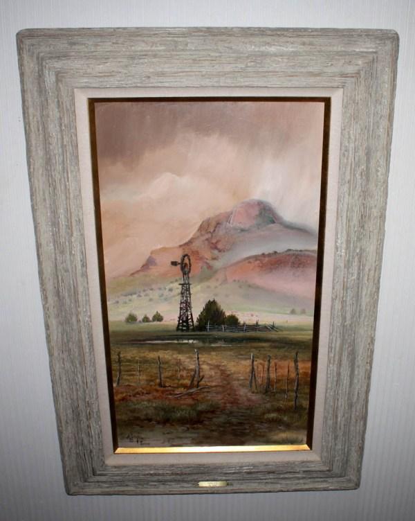 Signed Hal Empie Large Original Oil Painting Frame