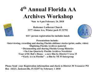 Florida AA Archive Workshop