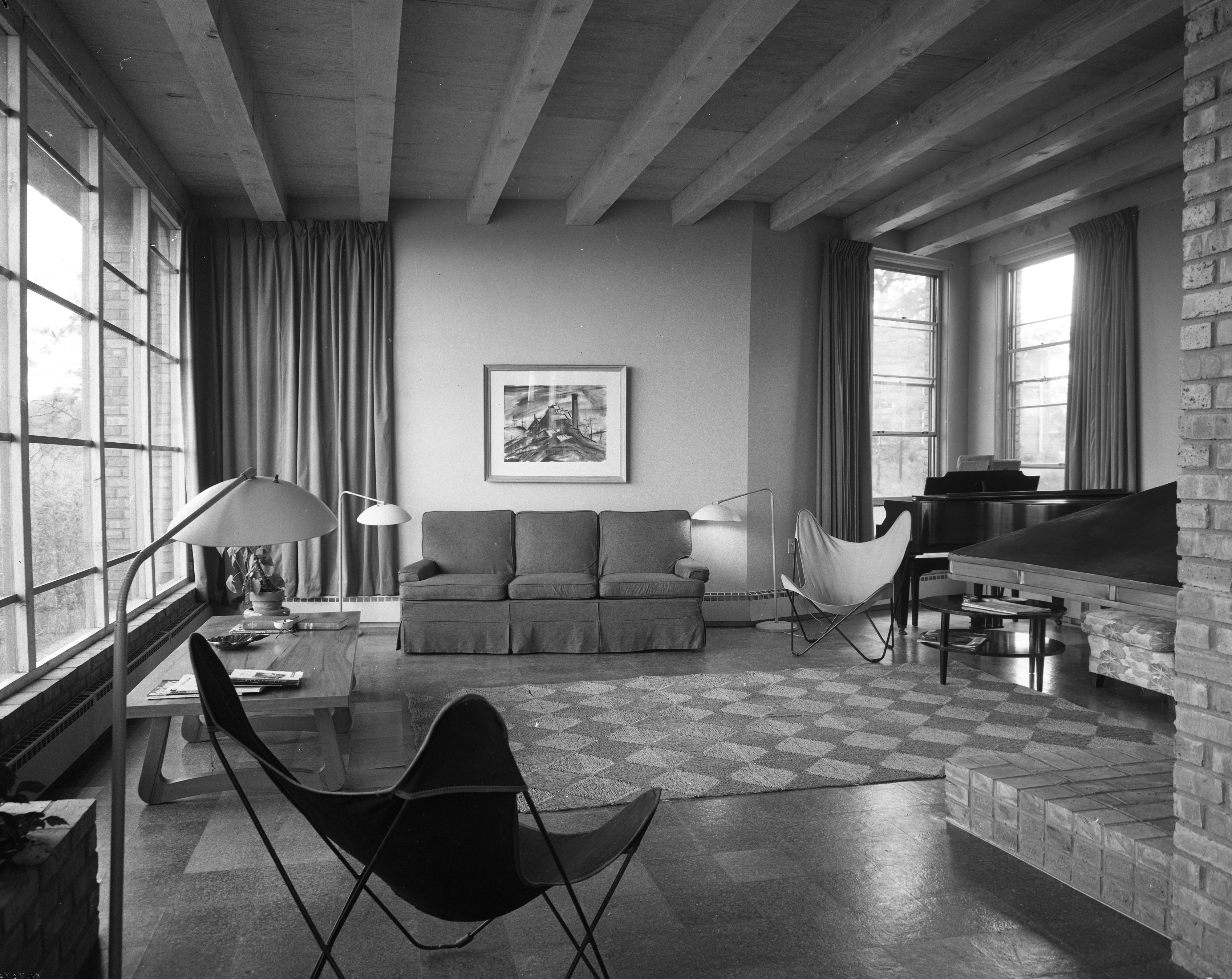 danish modern living room designing a small layout in heininger mid century home on huron view blvd may 1953