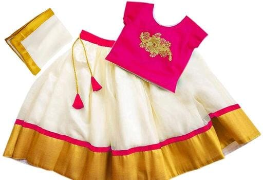 Traditional Girl's Lehenga Choli Dupatta
