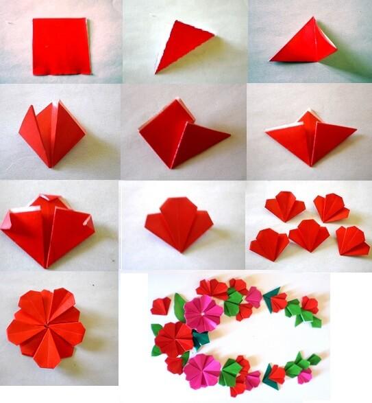 फूल बनाने के आसान तरीके-5