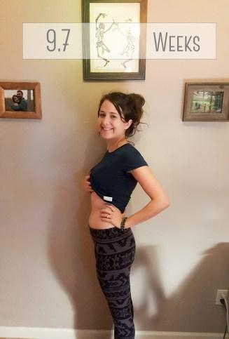 Ten weeks pregnant