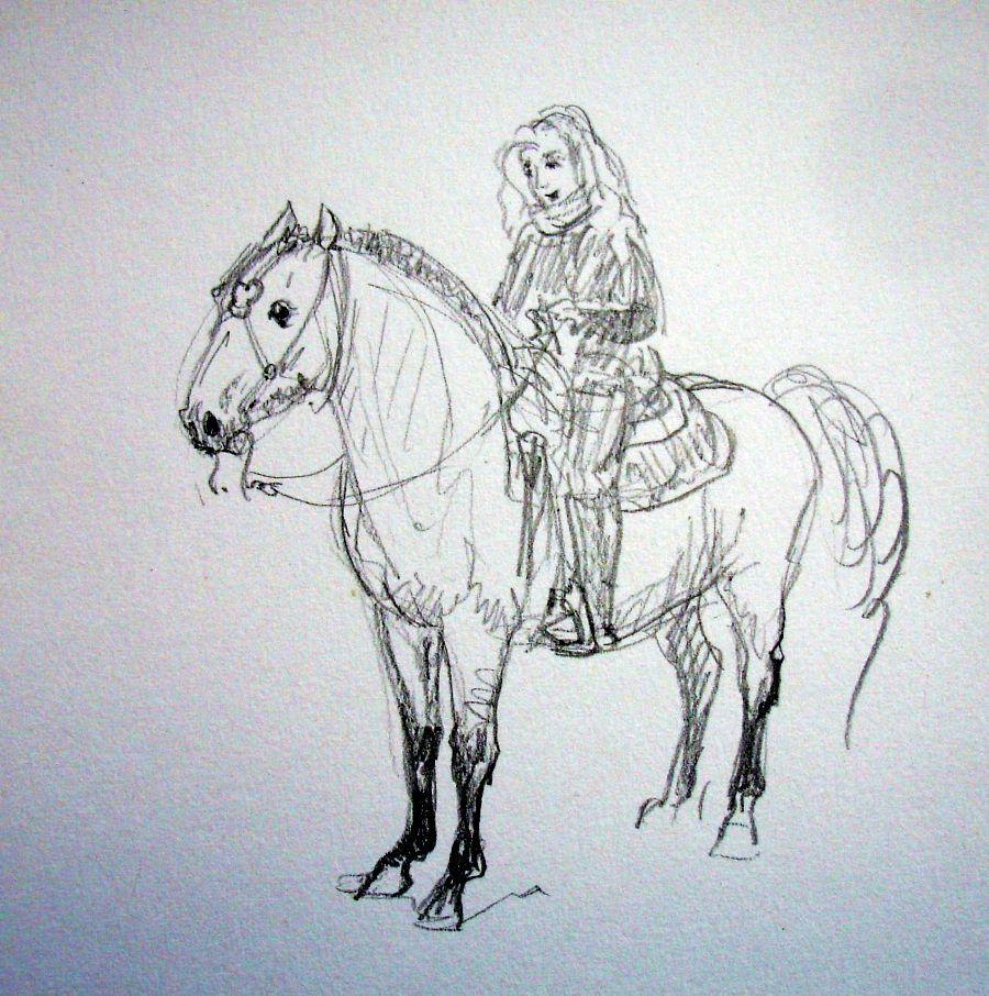 zuidlaardermarkt Horse fair art sketch13