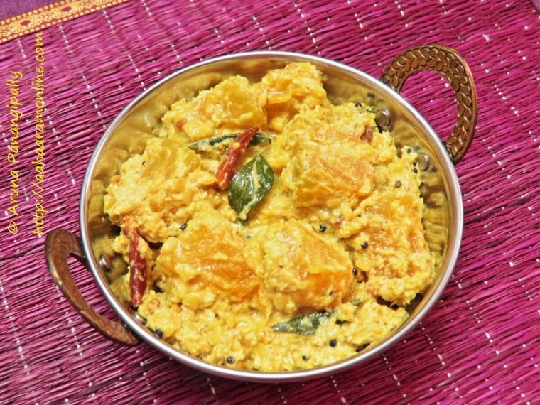Gummadikaya Koora. Andhra Style Red Pumpkin Curry. Lal Bhopla Chi Bhaji. Kaddu ki Sabzi