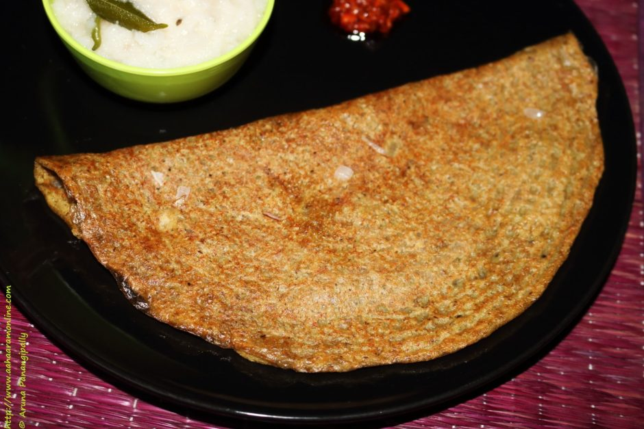 Andhra Pesarattu served with Upma