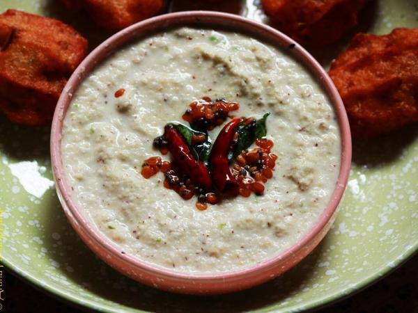 Kobbari Putnala Pappu Pachadi | Hotel Style Coconut Chutney