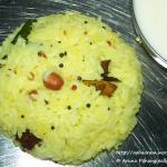 Nimmakaya Pulihora or Lemon Rice
