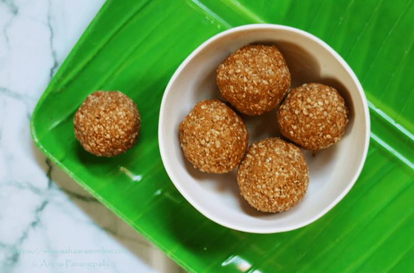 Chimmili | Nuvvula Undalu: 2-ingredient Andhra Sesame & Jaggery Laddus