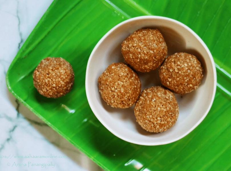 Chimmili   Nuvvula Undalu: 2-ingredient Andhra Sesame & Jaggery Laddus