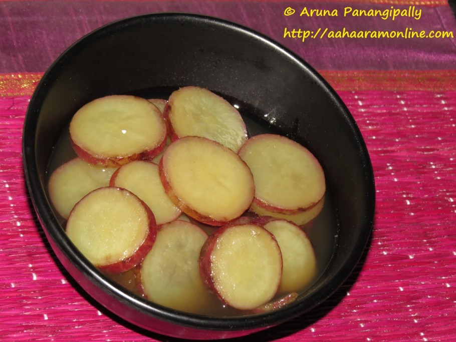 Sweet Potato in Jaggery Syrup - Fasting Recipe