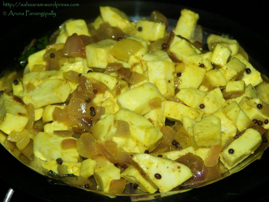Paneer ki Bhaji/Cottage Cheese