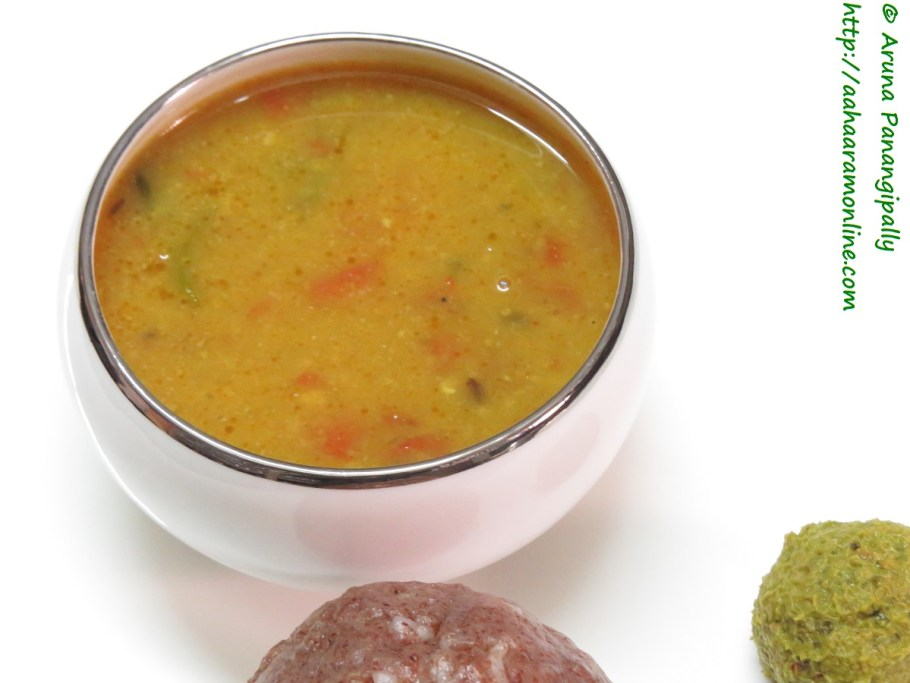Tomato Pappu - Andhra Style Tomato Dal