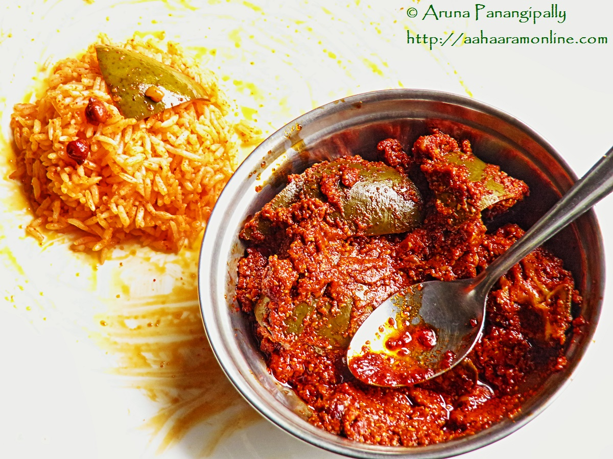 Avakai or Avakaya (The Famous Raw Mango and Mustard Pickle from Andhra Pradesh)