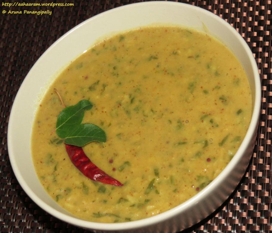 Pala Koora Pappu, Palak or Spinach Dal