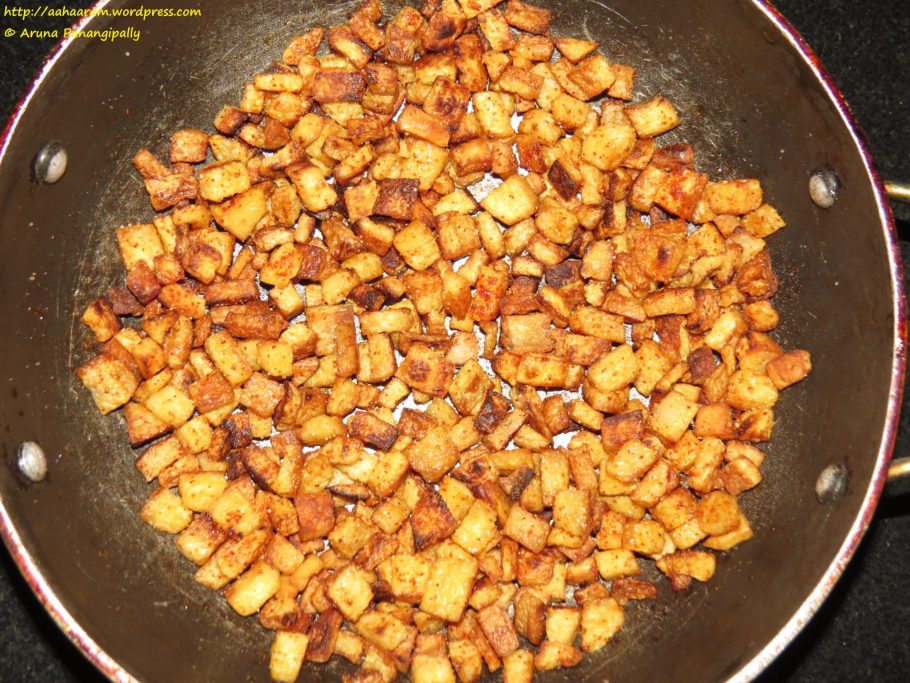 Kanda Vepudu or Yam Fry or Senaikizhangu Fry