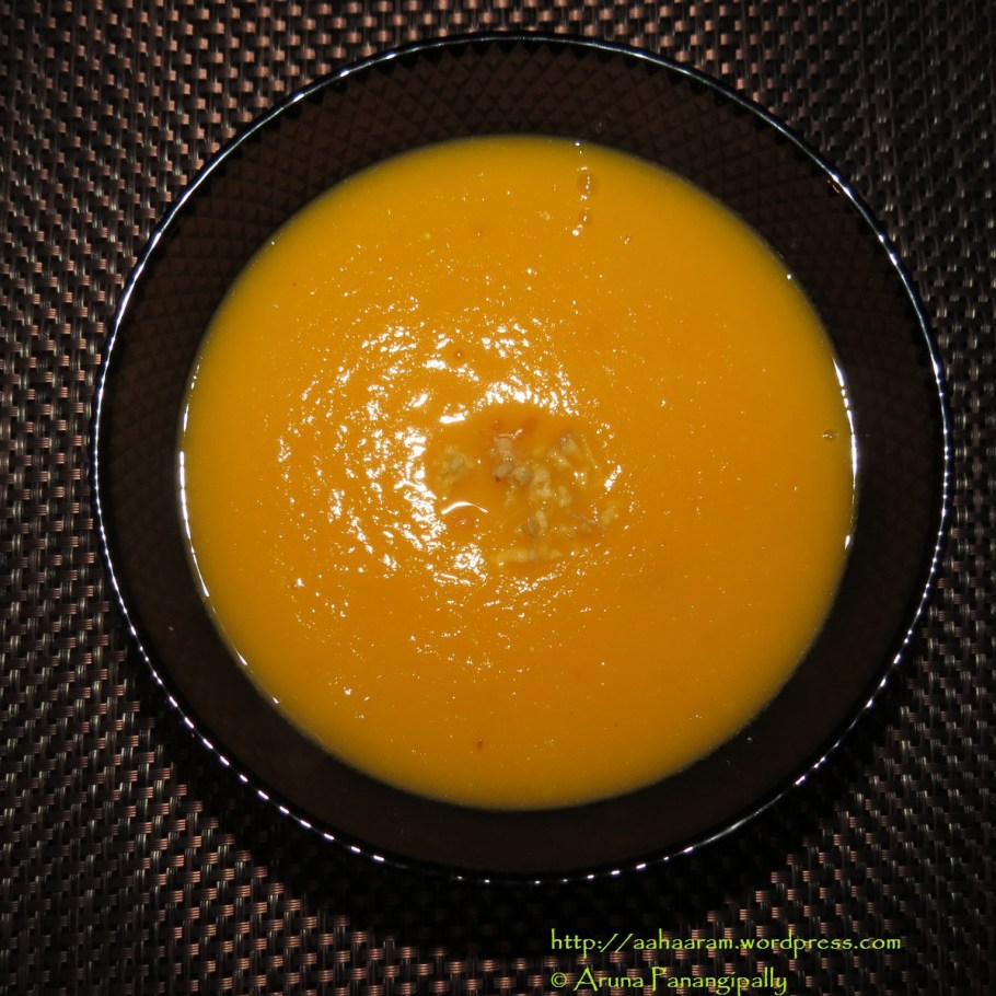 Carrot and Ginger Soup with a Dash of Orange
