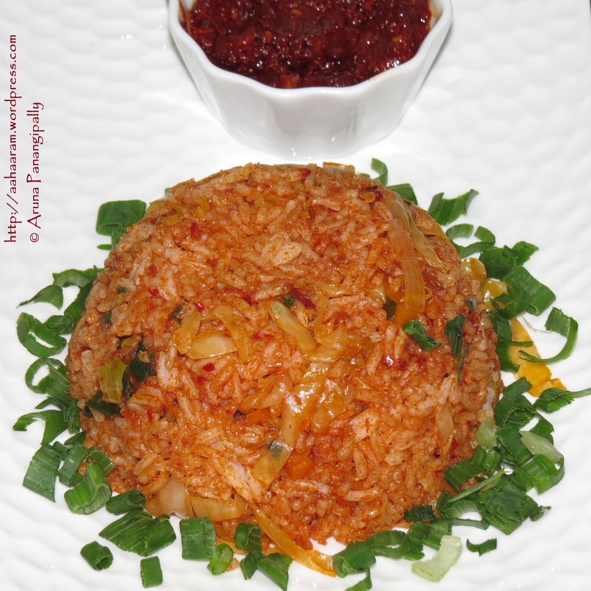 Schezwan Fried Rice or Sichuan Fried Rice | ãhãram