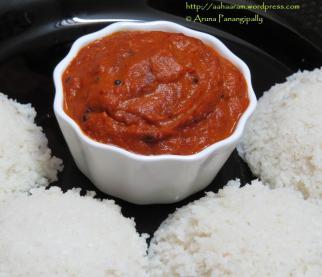 Tomato Onion Chutney or Takkali Vengayam Pachadi