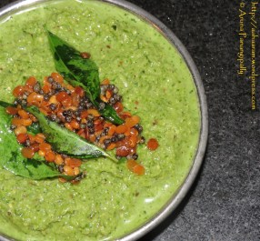 Coriander and Coconut Chutney for Idli and Dosa, Kothimalli-Thengai Thogayal, Kothimira-Kobbari Pachadi