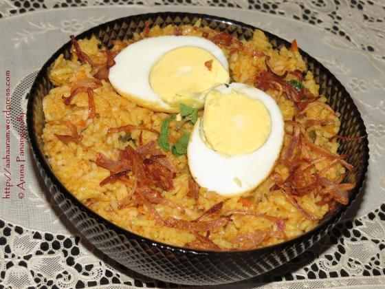 Egg Biryani or Anda Biryani