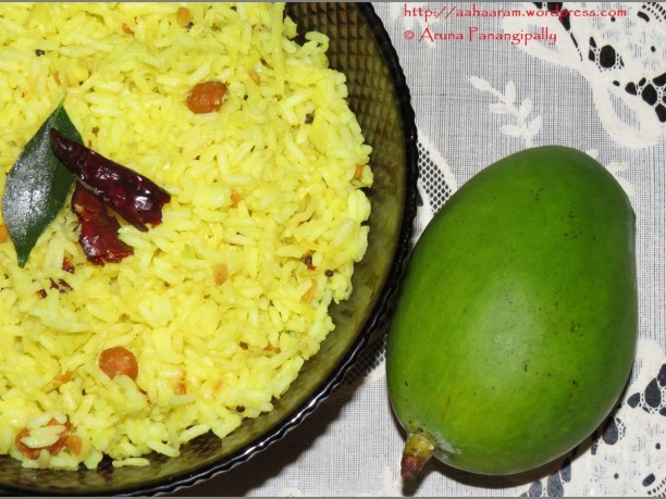 Mammidikaya Pulihora   Raw Mango Rice